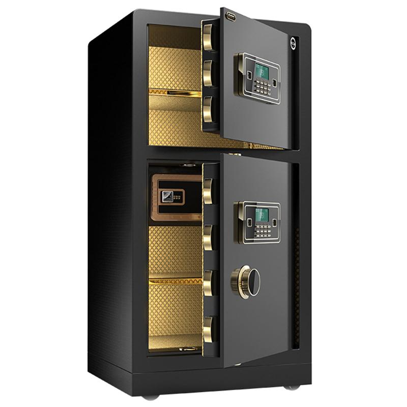 米双门密码指纹防盗保险箱全钢双层 1 80cm 大一保险柜家用办公