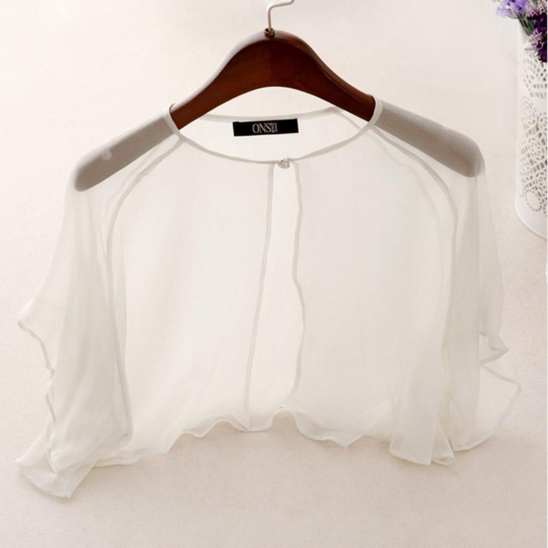 真丝防晒衣女2018新款夏时尚短款外搭短袖薄款桑蚕丝披肩开衫