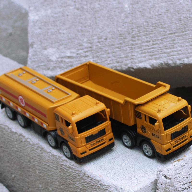大卡车运输车挖掘机玩具车儿童惯性工程车耐摔男孩仿真混凝土钩机