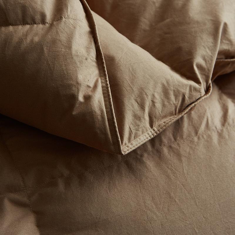 星酒店羽绒被子白鹅绒鹅毛全棉被芯冬被加厚保暖双人春秋四季通用