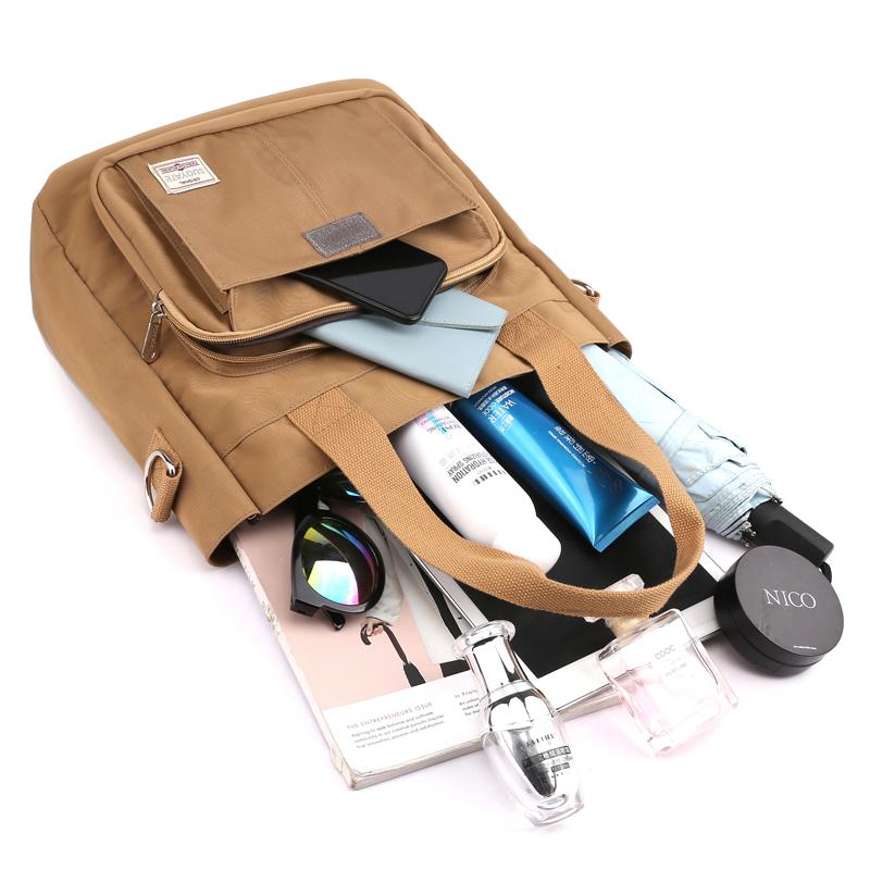 帆布尼龙包包女大容量新款日系通勤手提包轻便布包简约单肩斜挎包