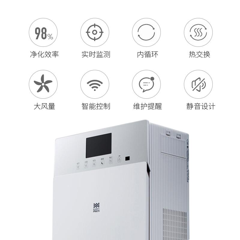 松下新风系统全热交换器壁挂式家用室内新风机换气过滤PM2.5净化