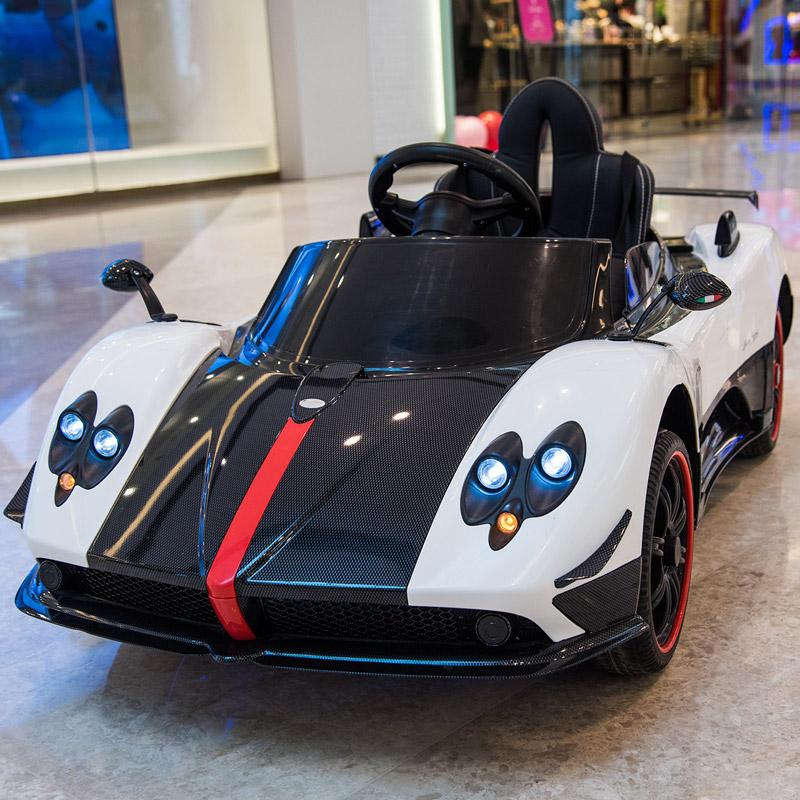 帕加尼儿童电动车四轮电动汽车宝宝遥控玩具车可坐人男女小孩婴儿【图2】