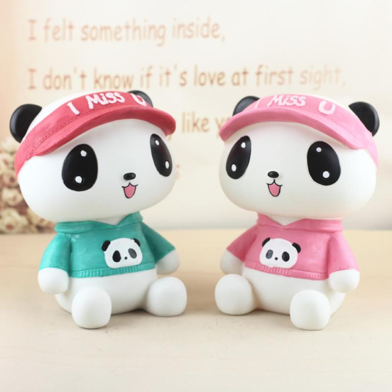 创意礼品儿童生日礼物女生大号熊猫存钱罐韩国创意功夫熊猫储蓄罐