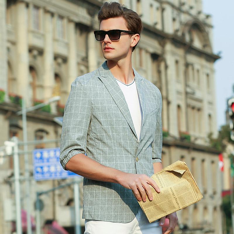 凯拉德 2017秋季休闲西装男 新款修身英伦小西服外套商务时尚单西