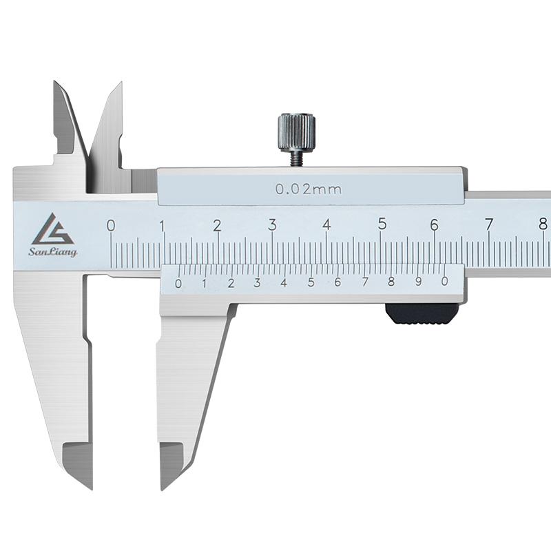 日本三量闭式四用游标卡尺油标线卡0-150mm高精度不锈钢游标卡尺