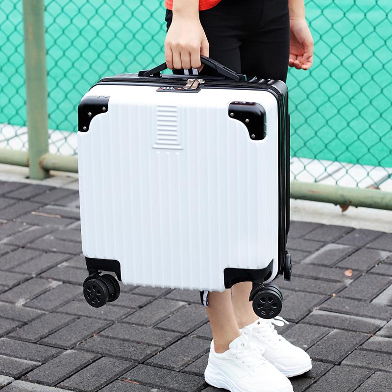密码箱男小型迷你旅行箱皮箱子登机拉杆箱 20 寸 18 轻便行李箱女小号