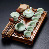 Kung Fu Tea Set Yixing ceramic cup simple home office small tea tray wood drawer-style tea table set of
