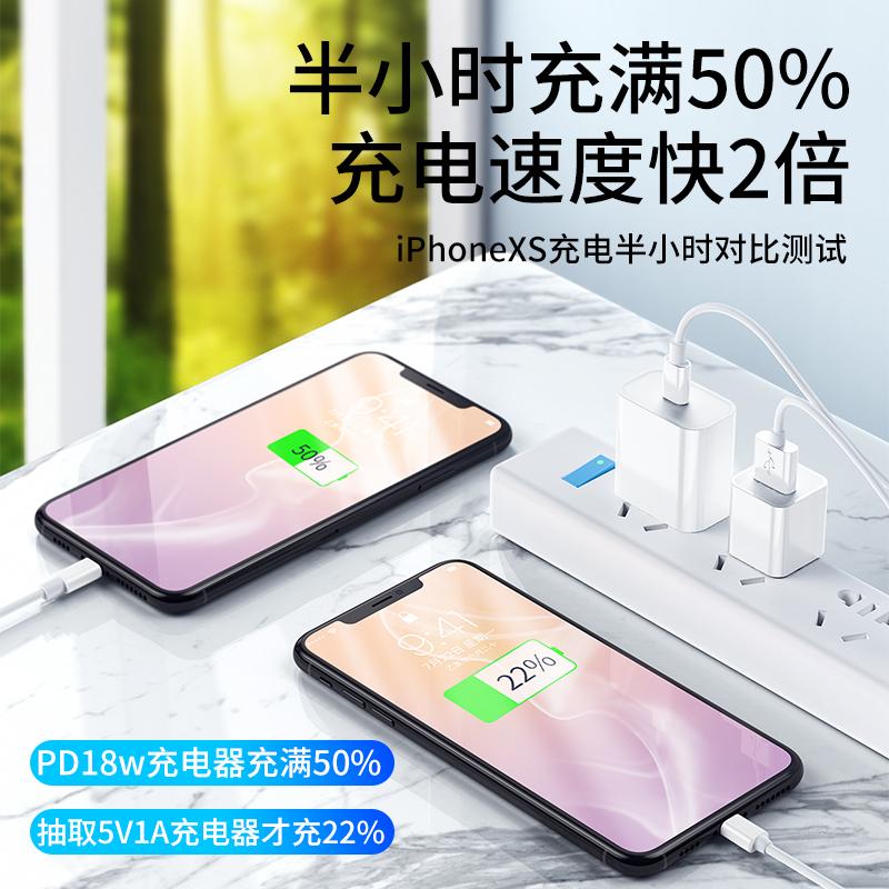 苹果18W数据线快充PD充电器充电头