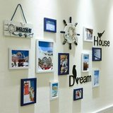 Photo wall decoration photo wall hanging hemp clip photo frame wall combination punch-free creative princess room decoration