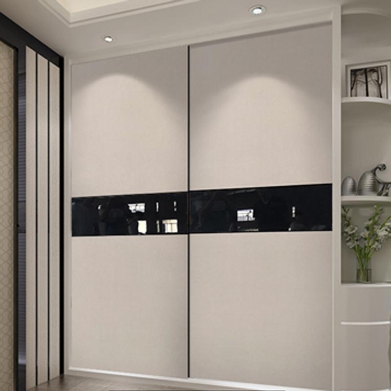简约北欧现代大衣柜推拉移门定制钢琴烤漆衣橱趟门实木壁橱柜门