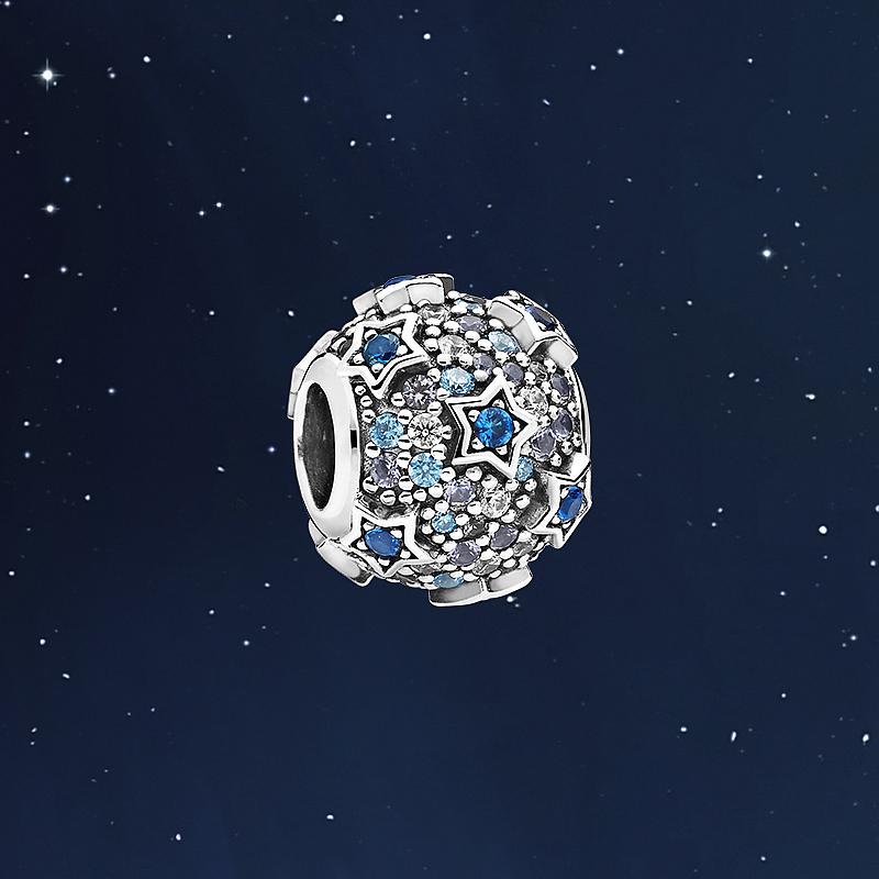 798467C01 银串饰 925 é密镶 Pav 潘多拉官网星形浮雕 Pandora
