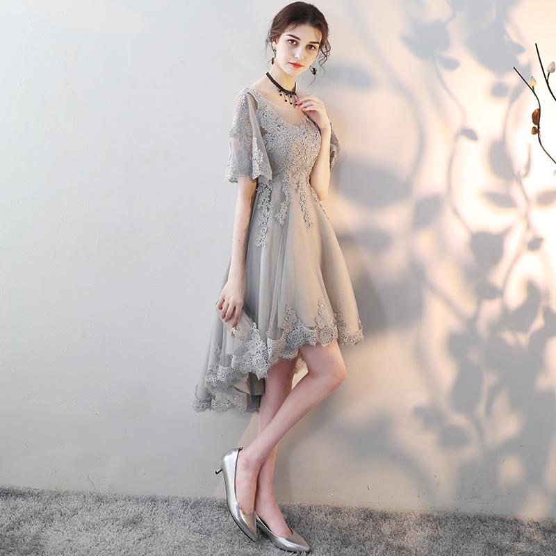 大码晚礼服2018新款生日宴会连衣裙聚会派对小礼服中长款伴娘服女