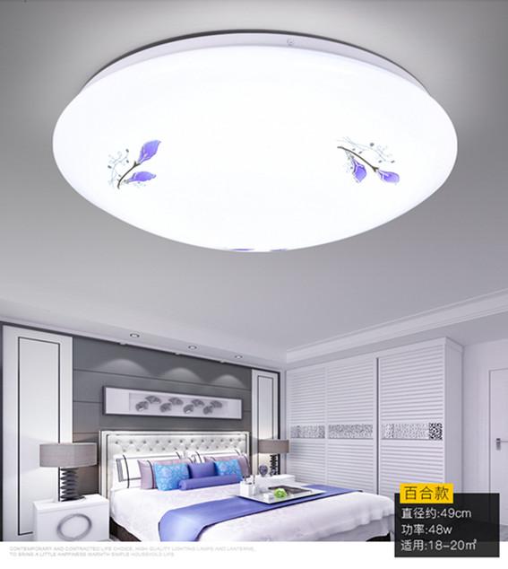 灯具 客厅卧室灯书房 圆形灯饰 亚克力 简约 现代 百合 吸顶灯 led