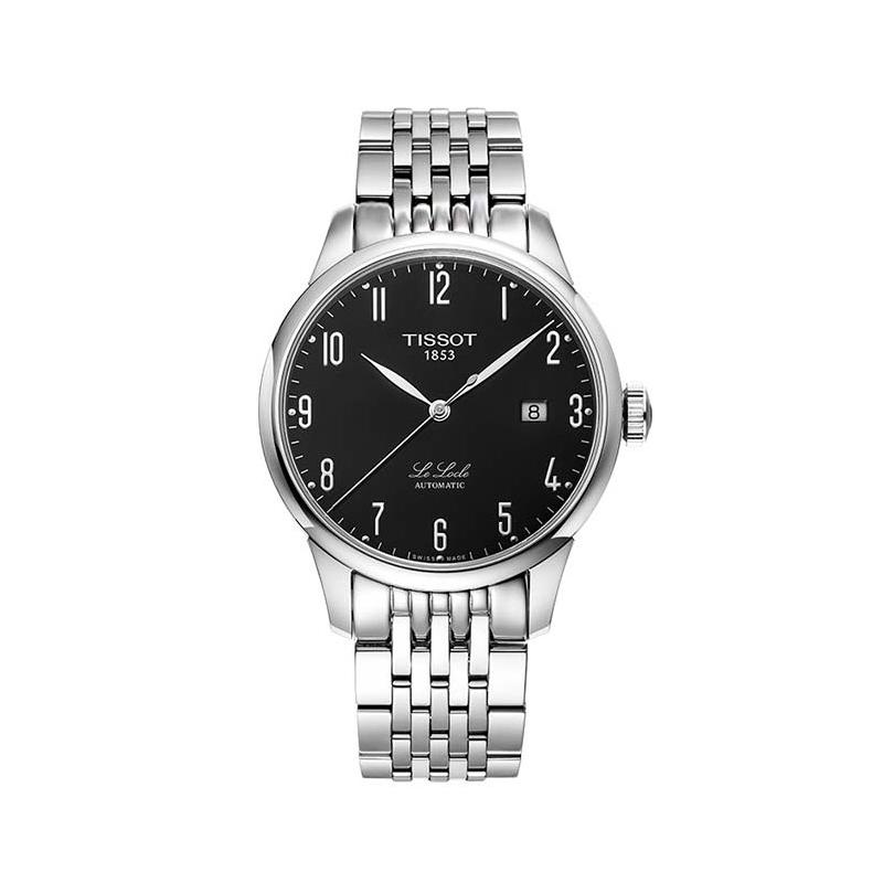 瑞士天梭力洛克系列男表自动机械钢带休闲手表T006.407.11.052.00