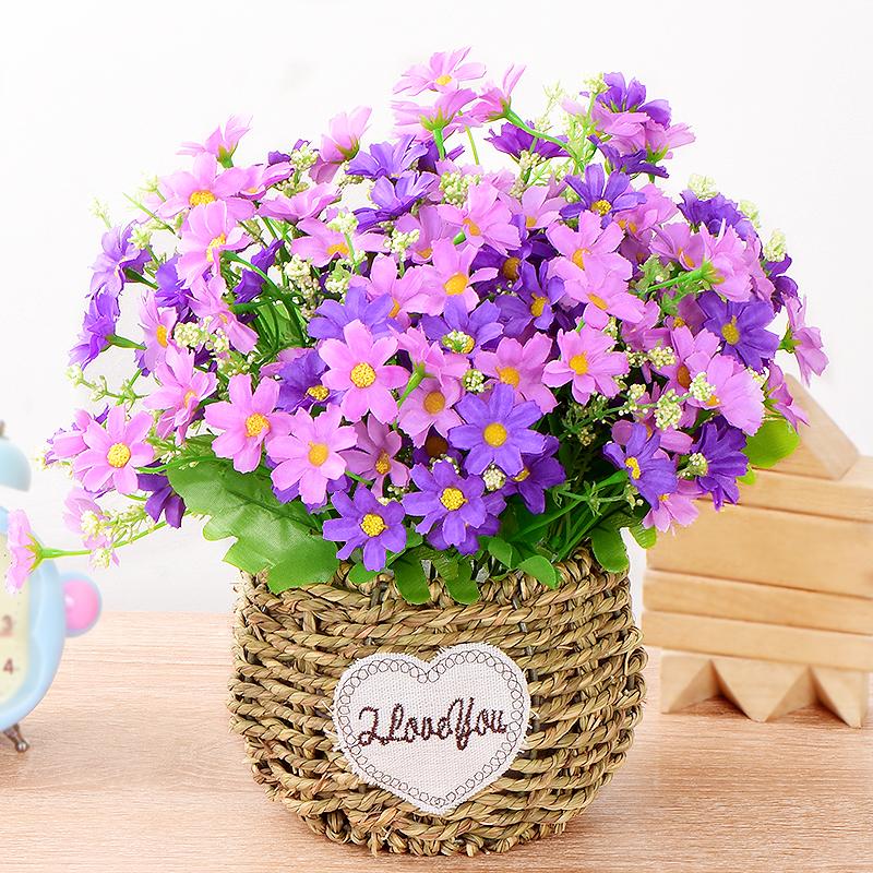 仿真花朵向日葵盆栽塑料花束插花艺客厅餐桌茶几摆设摆件假花装饰高清大图
