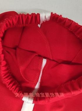 校服裤子一条杠束脚定做红色束口春夏紧口收口棉中性班服大码夏款