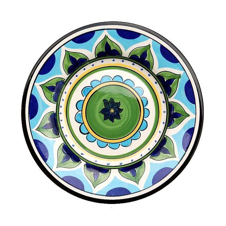 欧式彩绘陶瓷盘装饰挂盘盘子墙饰墙面装饰创意个性墙贴背景墙装饰