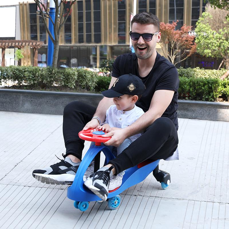 乐贝儿童扭扭车婴幼儿万向轮摇摆车溜溜车男1-3-6岁女宝宝妞妞车