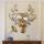 北欧式鹿头个性挂钟大气客厅挂墙挂表美式创意简约时尚钟家用钟表 mini 2