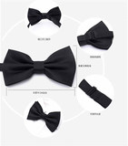 Child Bow Tie Boy Red Bow Student Piano Performance Big Child Flower Girl Dress Small Bow Tie