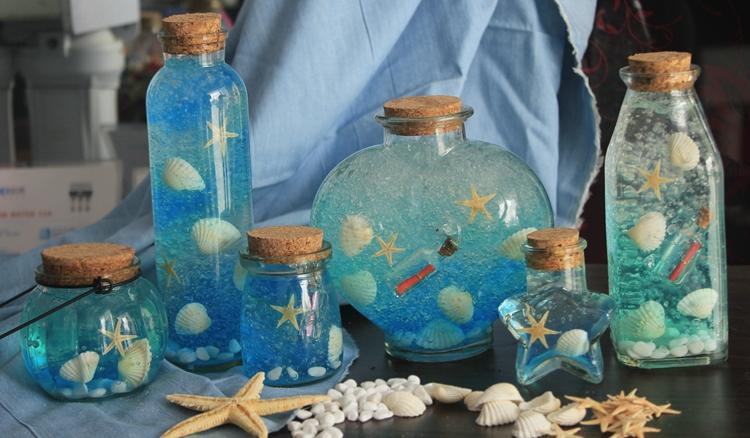 DIY星空瓶全套材料包 星云彩虹许愿瓶子漂流瓶海洋瓶玻璃瓶星星瓶