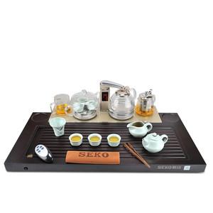 新功带遥控全自动四合一茶具套装实木茶盘茶道保温茶杯煮茶壶茶台