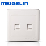 Surface mounted wall switch socket panel phone computer socket fixed telephone network cable broadband integrated socket ultra-thin