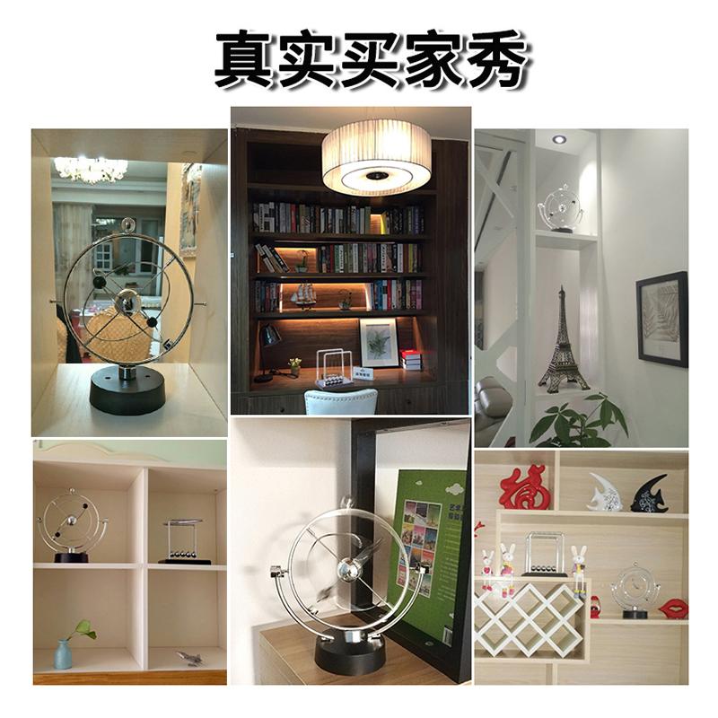 混沌摆件永动机仪牛顿摆球撞球创意磁悬浮物理办公桌面家居装饰品