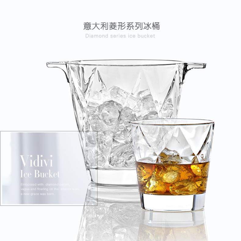 水晶玻璃冰桶加厚加重红酒桶送冰夹土耳其进口香槟桶家用冰块桶