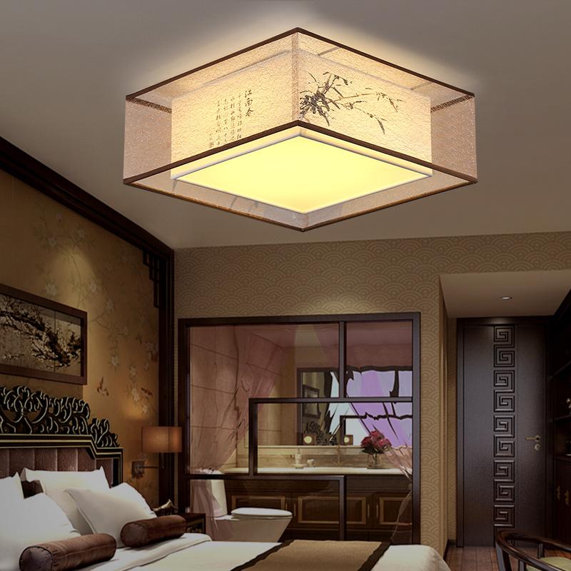 客厅灯温馨浪漫简约现代创意餐厅灯具 led 新中式吸顶灯卧室灯圆形