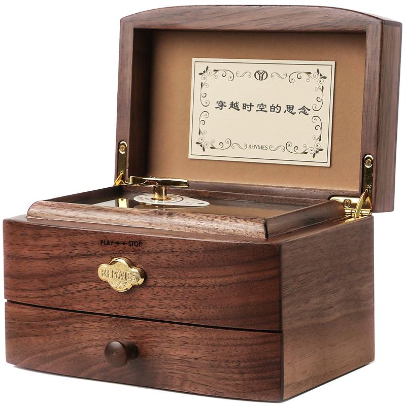 音阶可定制音乐盒八音盒双层木质首饰盒生日六一礼物送男女朋友 30