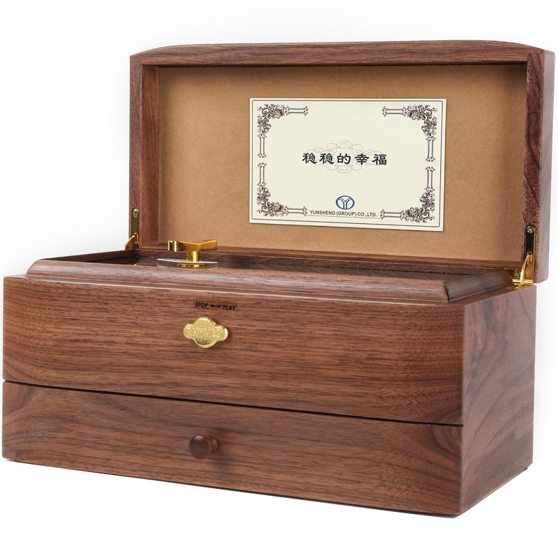 生日礼物送男女朋友 520 音双层雷曼士刻字 50 八音盒 RHYMES 定制音乐