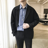 ins coat Spring Harbor wind tide male Korean small suit 2020 new men's loose shirt student suit