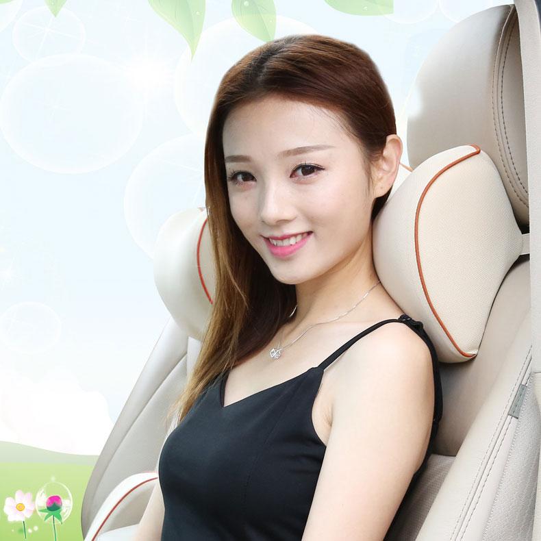 汽车头枕靠枕车用车载颈椎枕头护颈枕一对座椅记忆棉腰靠用品