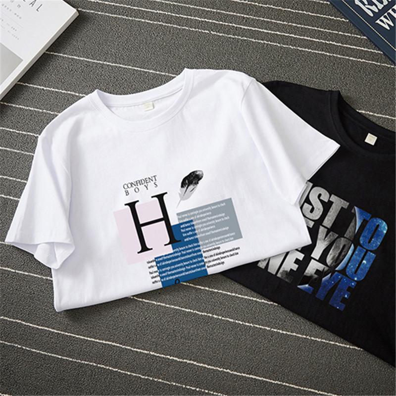 男士短袖t恤圆领修身半袖衣服2019夏季新款韩版潮流大码体恤男装