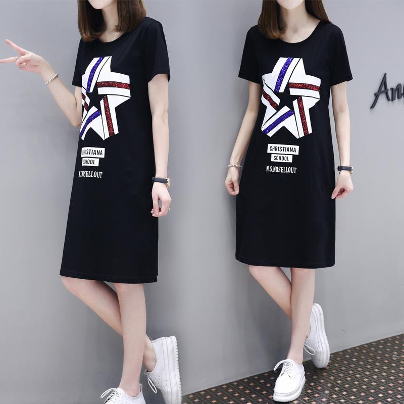 连衣裙2020春新款女装夏季韩版大码