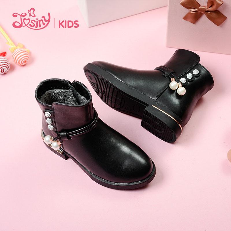 女童短靴2018秋冬新款童鞋儿童马丁靴雪地加绒小公主短靴单靴童靴