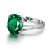 Emerald ring female 925 sterling silver plated 18K gold personalized crystal tourmaline color Vanves retro light luxury