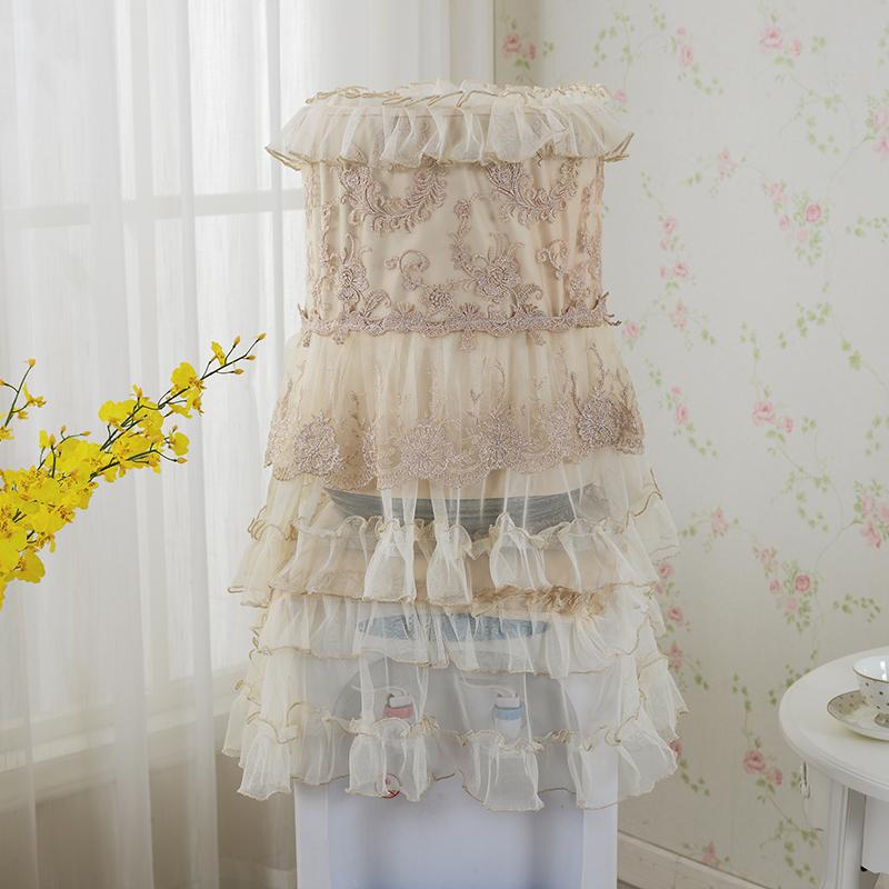 欧式饮水机罩防尘罩两件套布艺蕾丝套子客厅装饰通用套水桶新品
