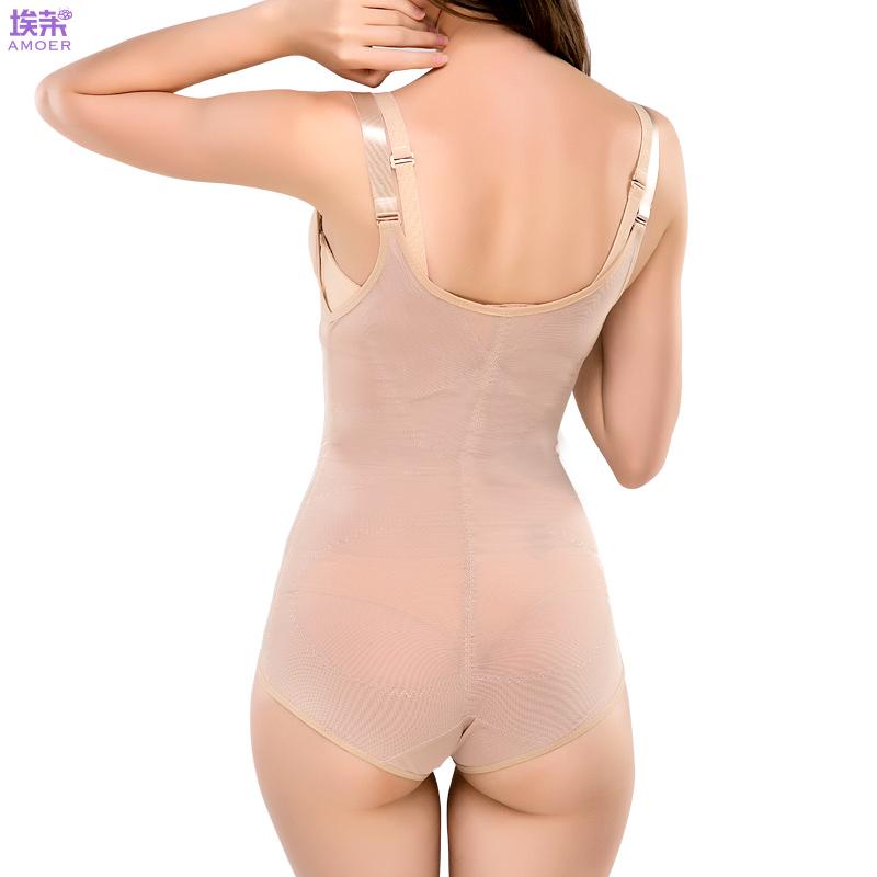 (加强版)连体束腰瘦身美体收复大码开裆提臀塑身衣薄