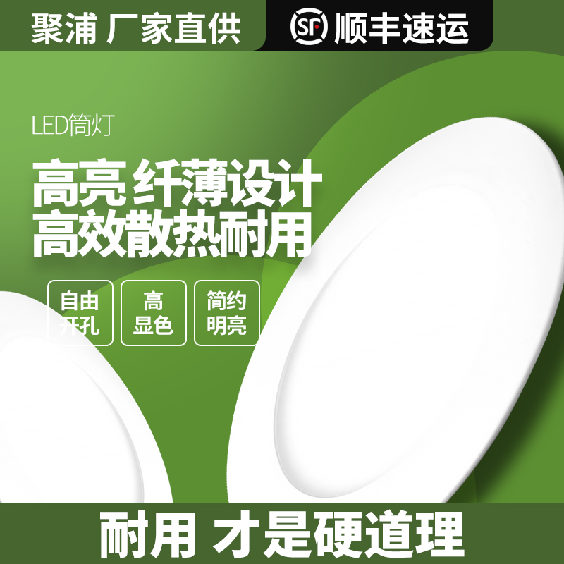 灯12W圆形简灯铜灯面板单灯