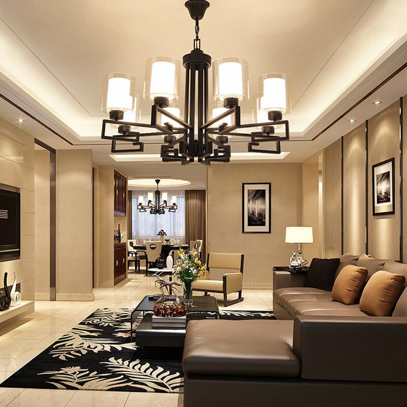 新中式吊灯客厅灯简约现代餐厅灯中国风复古卧室书房酒店美式吊灯