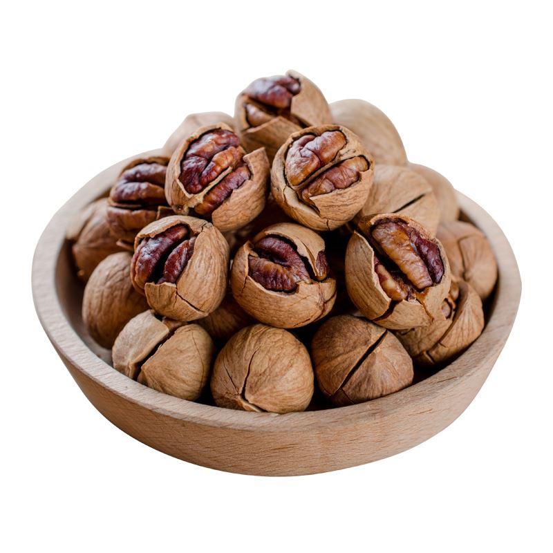罐装坚果仁孕妇零食 2 分 500g 今年新货临安山核桃小核桃包邮连罐