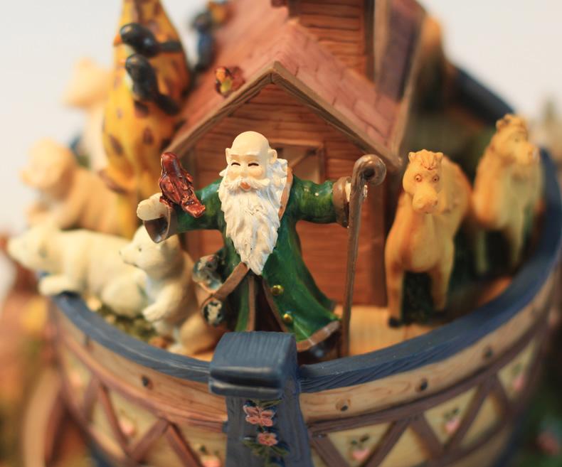 动物诺亚方舟旋转音乐盒八音盒创意精品儿童生日情人节礼物送男孩