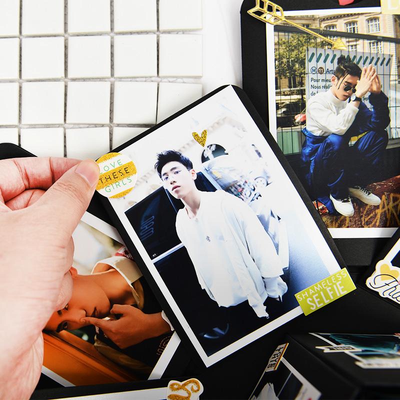 欧美风彩色3D立体贴 DIY手工相册日记手账装饰 硬纸板贴纸