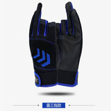 Fishing gloves outdoor exposed three fingers exposed five fingers sunscreen luya sea fishing rock fishing anti-skid fishing equipment riding gloves