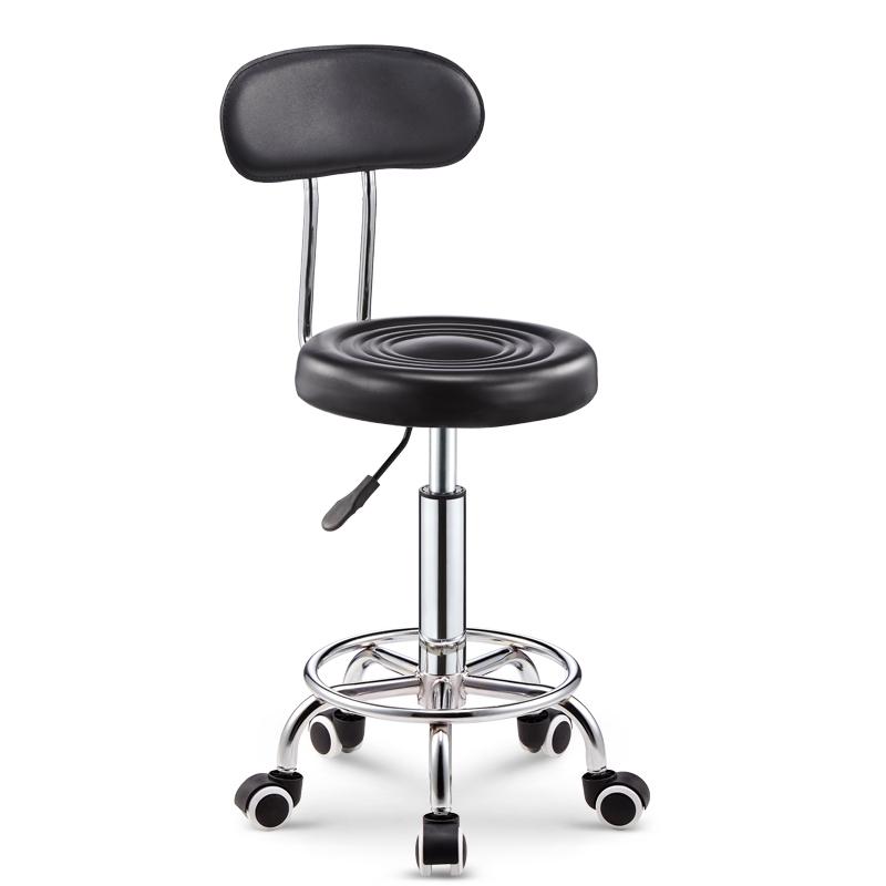 吧台椅酒吧椅子旋转升降靠背家用高脚凳圆凳子时尚创意美容凳转椅