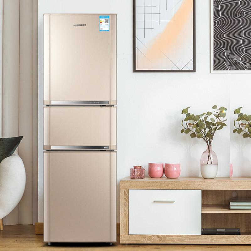 升三开门冰箱家用小型宿舍租房节能三双开门电冰箱 209 奥克斯 AUX