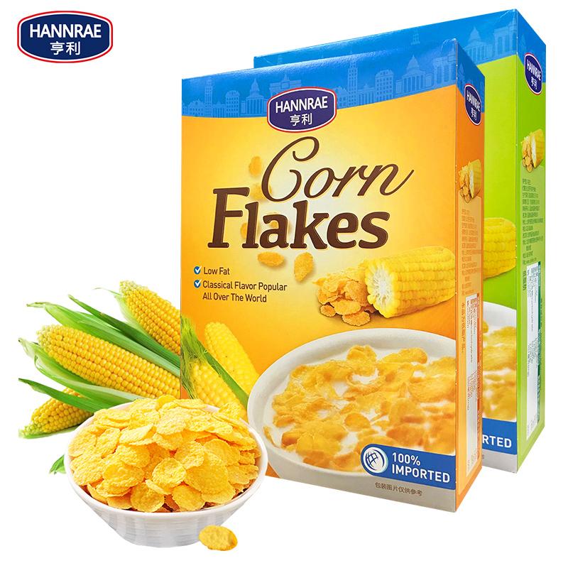 欧洲进口亨利低脂玉米片酥脆免煮即食早餐非油炸营养谷物冲饮麦片